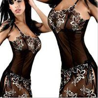 sexy spandex lingerie - Bow Plus size XL XL L XL XL XL XL Black Sexy Sleepwear Lace Women Erotic Lingerie Dress Sexy Lingerie Hot Lenceria Sexy Dress Pajamas