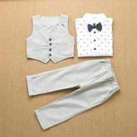 Cheap boy embroidery shirt Best high quality boy clothing set