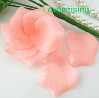 al por mayor paquetes libre de la armadura-5 paquetes (720pcs) Pétalo artificial de la flor de Rose de la tela no tejida coralina ligera de la alta calidad para el envío Decor-Libre del favor del banquete de boda