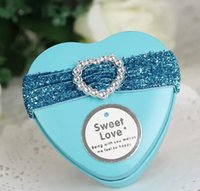 Favor Boxes heart shaped tin box - 2015 NEW Fashion Wedding candy box Heart shaped tin box Wedding Gift Boxes diamond portable Personality candy box HTH16