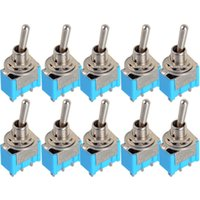 Wholesale 10pc Blue Mini MTS Pin SPDT ON ON A VAC Miniature Toggle Switches New Hot