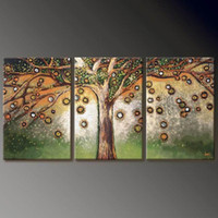 "Cheap WoW!SIZE:16x24""(No Frame)Huge ABSTRACT OIL PAINTING ART ""Wisdom Tree""ON CANVAS"