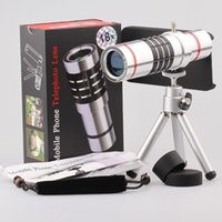 Wholesale 18x Optical Aluminum Telescope camera lens With Case Cover For iphone6