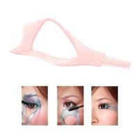 cosmetic eyelash - HOT sale Mascara Applicator Eyelash Curler Comb Makeup Guide Card Cosmetic Assistant Tool W298