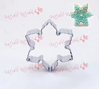 bakery supplies - stainless steel cookie mould snow flake shape bakery mold vegetable moulds Christmas party decoration supply favor