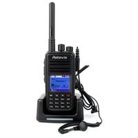 Deux radios bidirectionnelles vente Avis-Hot Sale Retevis RT3 DMR Talkie-Walkie 136-174MHz VHF A9110AV 5W 1000 Canaux Radio Numérique / Analogique Numérique VOX alarme radio bidirectionnelle