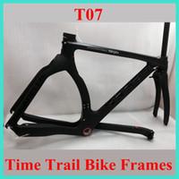 Wholesale 2015 TT time trail carbon bike frames TT graal bob Glossy matt BSA bottom bracket size cm full carbon bicycle frameset