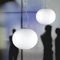 glass dining room - New flos glo ball pendant lamp Modern chandelier Glass dining room hanging light creative lighting fixture by Jasper Morr single head white