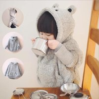 Wholesale A winter coat Korean super adorable girls thickened super soft bear ear cap beijirong thick coat Cloak