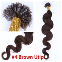 u tip hair extensions - Keratine Nail Tip U Tip Fusion Hair Extensions Body Wave Pre Bonded Remy Indian Hair g s g s pc