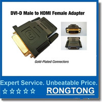 Wholesale VGA CABLE DVI TO HDMI Adapter DVI Male to HDMI Pin Female M F Adapter Converter for HDTV Computer Connectors