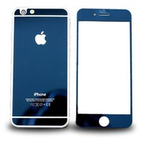 Wholesale for iPhone s plus s s Electroplated Colorful Tempered Glass Front Back Screen Protector With Package Front Back