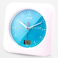 best shower walls - Best modern antifog Waterproof Shower Clock Bathroom Kitchen Living Room Wall Suction Clock with hanger and thermometer