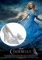 Cheap New 2015 Fashion Shoes Silver Rhinstone Cinderella Shoes For Wedding Gown High Heels Stunning Girl Dream Shoes For Party Prom