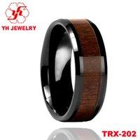 acacia wood plates - Hawaiian Koa wood inlay tungsten ring ring factory direct Acacia