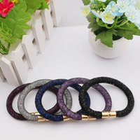 Wholesale 2015 New Arrival Stardust Bracelet With Shining Micro Resin Crystal Beads Magnetic Clasp Stardust Bangles Stardust Mix Colour