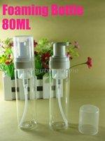 80ML espumante botella, la formación de espuma de la bomba, dispensador de jabón, espuma compensar botella vacía envío libre # 1811