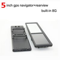 navigation gps - 5 inch Rearview mirror GPS navigation built in G Mhz Free EU map Russia USA Canada Spanish