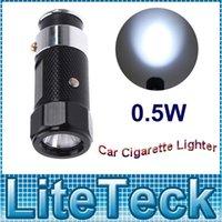 Wholesale Rechargeable Car Cigarette Lighter LED Flashlight Built in Ni MH battery Super bright white LED emitter