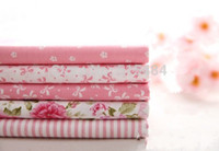 Wholesale New x30cm Mixed Pink Flowers Tilda Patchwork Cotton Fabric Home Textile Cloth Group for Tilda Cloth Crafts Handwork