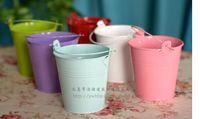 pots - Mini flower pot planter small seeds metal pots bucket easter egg pots decorative flowerpot garden flower seed holder