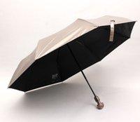 anti wind umbrella - High Level Fashion Strong Automatic Men and Women Umbrellas Fox and Owl Handle Wind Resistant Anti UV Umbrella