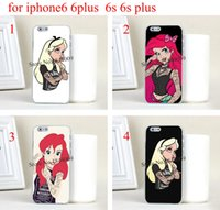 alice covers - 4pcs Tattooed Alice in Wonderland and punk ariel Hard Skin Transparent stealth Case Cover for iPhone s iphone s plus