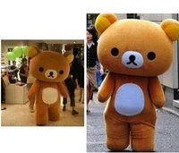 bear pictures free - true picture Janpan relaxation bear lazy bear Mascot Costumes Adult Size high quality Halloween Party EMS