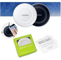 Wholesale Qi Wireless Charger Mini Charging Pad For Samsung Galaxy S6 S6 edge Cell Phone Charges with Retail Package DHL free