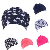 Wholesale Direct Selling Hats for Women New retail Colors Fashion Ladies Womens Swimming Hat Swim Bathing Cap Turban Elasticated