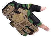 Wholesale Mechanix Tactical Gloves US Seal Army Military CS Airsoft Gloves Men Half Finger Motorcycle Camping Hiking Hunting Sport Gloves