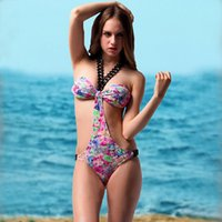 Cheap 2015 Professional Sexy one pieses swimwear chain hanging Slim