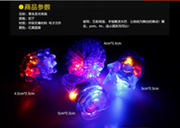 Wholesale New Arrival LED Ring Light Ring Flash Light LED Mitts Cool Led Light Up Flashing Bubble Ring Rave Party Blinking Soft Jelly Glow Party Favor
