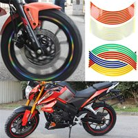 Wholesale New Arrivals Strips Set Bike Motorcycle Car Wheel Sticker Tape Reflective PET Size CM CX255