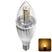 2835 big candles sale - Big Sale Superbright AC V W E14 Lm LED Bulb Lighting Lamp Warm Cold White Pure White Soft Clear Flamed Candle Light