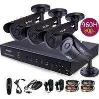 Wholesale ZOSI Outdoor Security Night Camera System X1000TVL HD security CCTV Infrared Cameras IR Leds ch DVR HDMI Surveillance System
