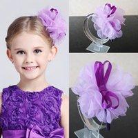 access kid - Cute Kids Children Flower Headpiece Princess Purple garland Hawaii Garland Girls Head Pieces Flower Girl Headband For Wedding Hair Access