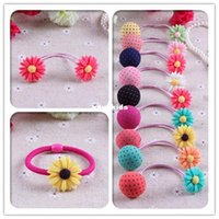 baby children market - Xayakids Hairpin Korea hot little Daisy Hair rope calliopsis Tousheng children lovely flowers band spread market supply Baby Headband