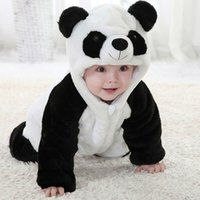 Wholesale New Cute Animal Panda One Piece Long Sleeve Cotton Newborn Baby Romper Baby Costume Clothing Clothes