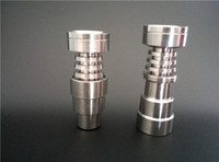 Wholesale Domeless Titanium Nail fits to mm mm GR2 Pure Titanium Nail In for Water Pipe Glass Bong Smoking