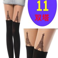 animal print tattoos for women - 2016 Fashion pantyhoses tights for women Black Eiffel Tower Cat Tail Patchwork Totoro Velvet Tattoo Women Tights Pantyhose Sexy Thin