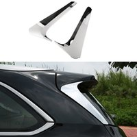 Wholesale 2Pcs Car Styling Rear Side Triangle Window Trim Decoration Cover Accessories For Toyota Highlander High Quality