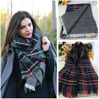 Wholesale Z sub scarves Ms England style home with money in Europe and America sided unisex plaid scarf shawl
