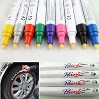 Wholesale 24pcs Permanent Oil Paint Marker Waterproof Motorcycle Car Tyres Tread Marking Pens Wall Painting Gadgets EC001