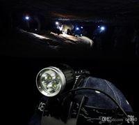 Wholesale 3xCREE XML XM LT6 LED Bicycle Bike Head Light LM Lamp x8 v Battery Pack sets Waterproof Cycling headlight Camping Fishing Light
