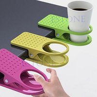 Wholesale New Drink Cup Holder Clips To Table Desk Laptop Coffee Drinks Holder Clip