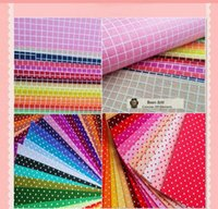 Wholesale Felt Fabric Polka Dot Ripstop Printed MIX COLORs multi Polyester DIY non woven CM X CM ONLY Good quality