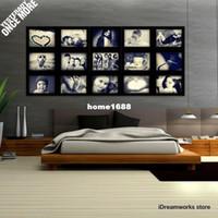 al por mayor mejores marcos de fotos-Felicidad Marcos de la colección Decoración de la pared Marcos Cuadros del collage del rompecabezas para la mejor memoria Buena idea para la decoración casera