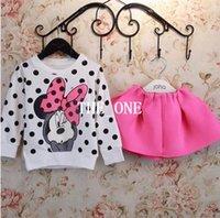 Cheap 2 piece sweater skirt set Best t shirt skirt tutu