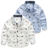 Wholesale 2016 Spring Baby Shirt Long Sleeve Cartoon Dinosaur Shirts For Boys Kids Clothes Retail PC ZZ3008